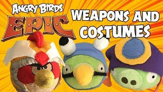 (Updated) Angry Birds Epic Weapons and Costumes plushes