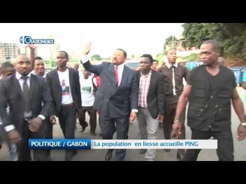 POLITIQUE / GABON:  La population en liesse accueille PING