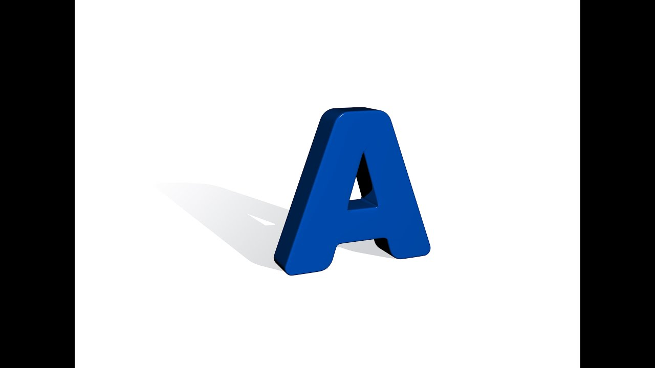 how to draw letters in 3d how to draw the letter a in 3d max 24778