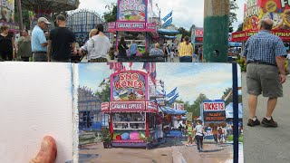 Painting INSANE Detail in Two Hours: James Gurney Paints the County Fair in Gouache