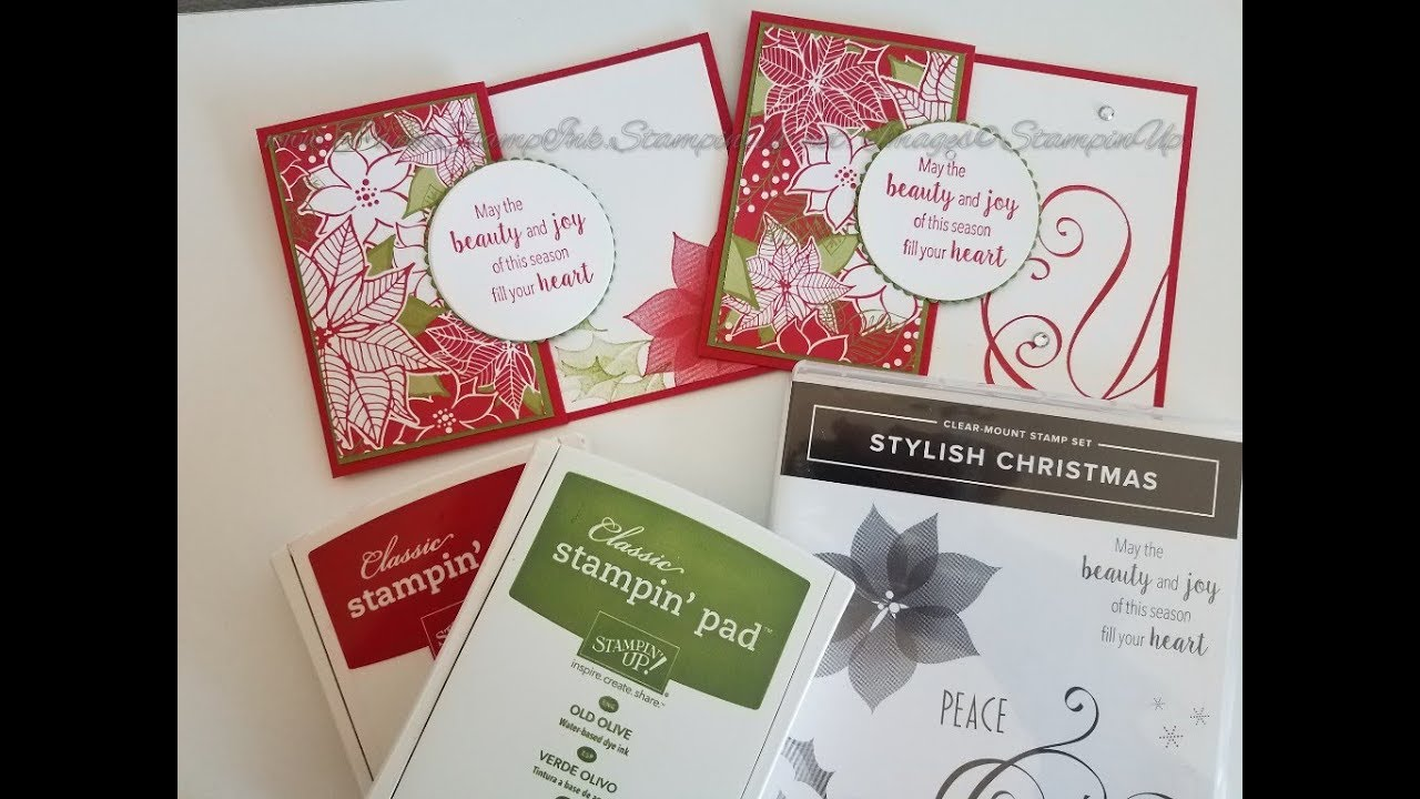 Fun Fold Card Quick Christmas Card Using Stampin Up