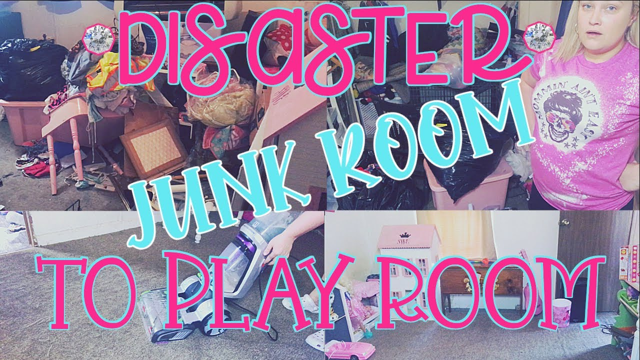DISASTER JUNK ROOM TO PLAY ROOM | MOBILE HOME TRANSFORMATION