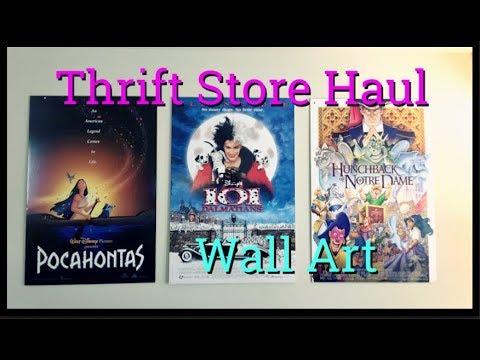 The Best Thrift Store HaulWall ArtDisney, Classic Movie PostersAll Under $40!!!