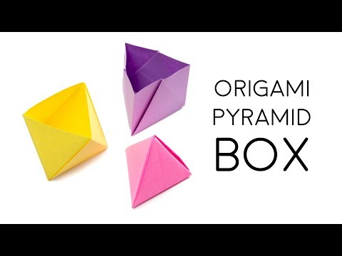 Origami Pyramid Gift Box Tutorial - DIY - Paper Kawaii