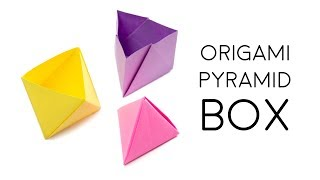 Origami Pyramid Box Tutorial ▲ DIY ▲ Paper Kawaii (Oozeq)