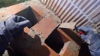 Murowanie komina z cegły pełnej kl.200 - Rozbudowa domu z 1938r