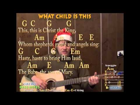 What Child Is This (Christmas) Fingerstyle Guitar Cover Lesson ...