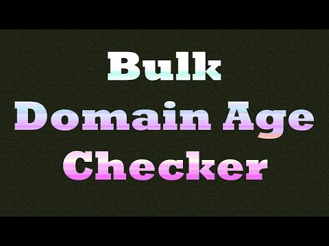 Domain Age Checker Tool