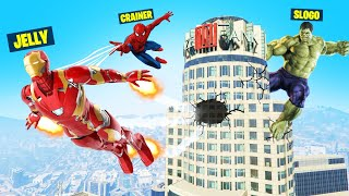 Playing SUPERHERO HUNTERS vs. SPEEDRUNNER In GTA 5!