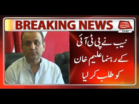 NAB Summons PTI's Aleem Khan