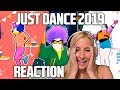 JUST DANCE 2019 TRAILERS REACTION! (the most surprising edition)