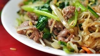 Vietnamské smažené Pho s hovězím masem (phở xào)