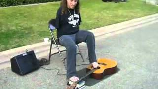 Metallica - Fade to Black played with feet.flv