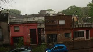 Chaparrón en Montevideo 27/10/2017
