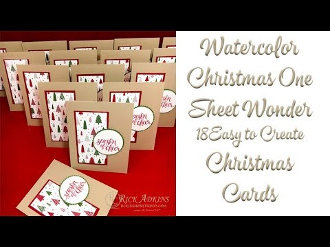 How to Make 18 Quick & Easy Christmas Cards with a Few Stampin' Up! Supplies