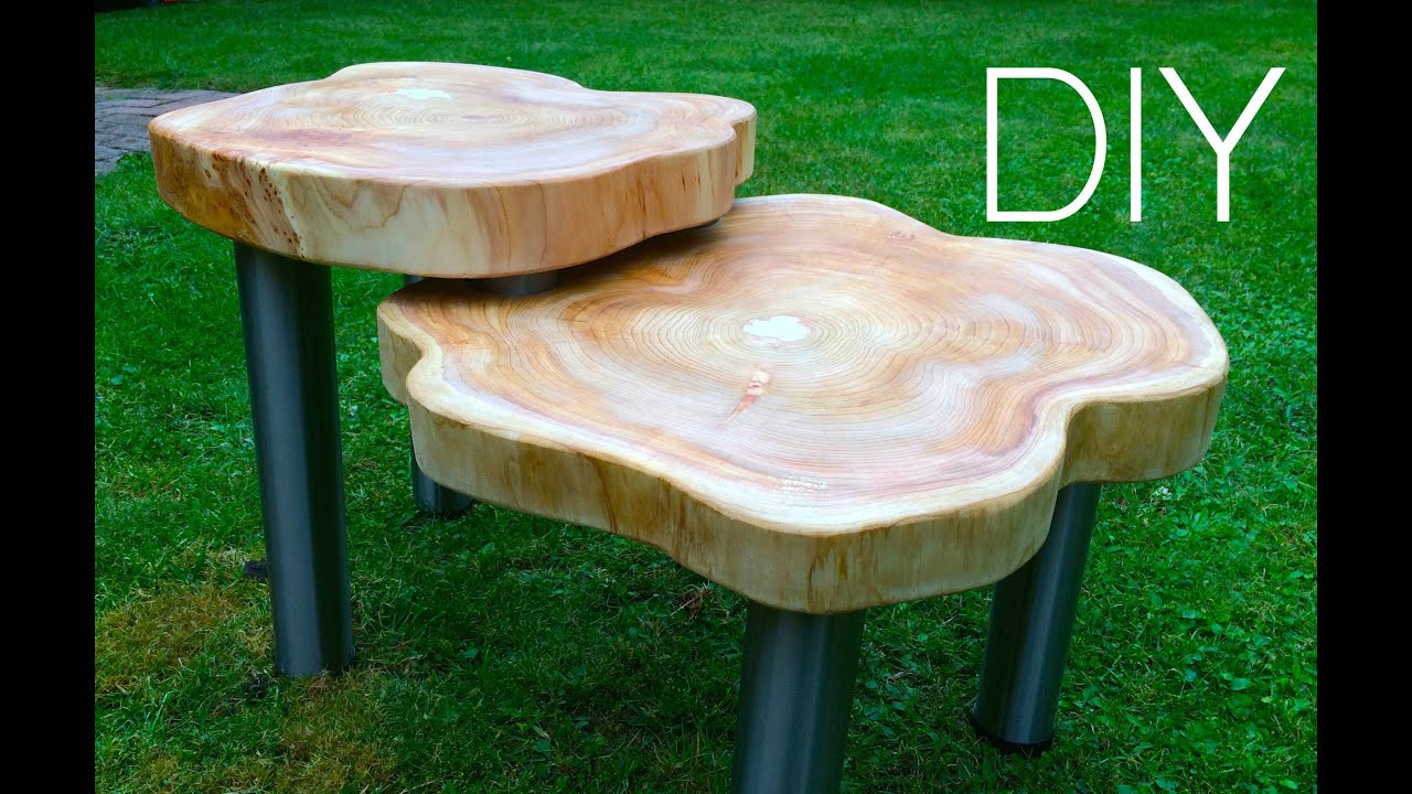 diy ☆ wood table designer tisch anleitung - youtube