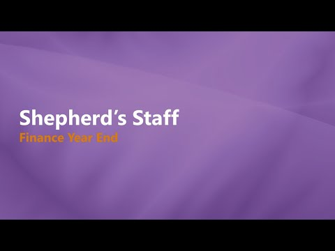 Shepherd's Staff: Finance Year End Process