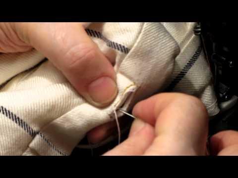 Как обметать петли вручную