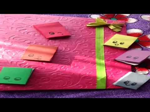 How to make mini paper diary. DIY ideas