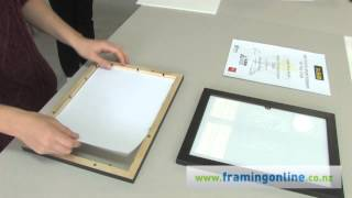 How To Frame A Picture: Without A Mat
