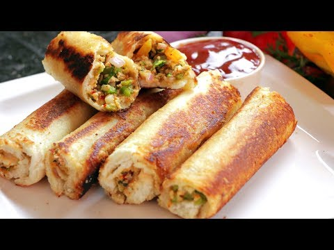 Paneer Rolls | Bread Paneer Rolls Recipe | Breakfast Recipes | Village Travel Food