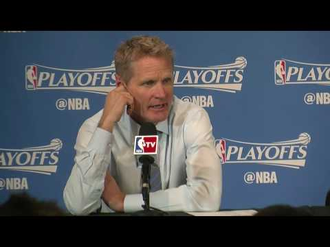 Watch: Steve Kerr calls Stephen Curry's Game 4 return 'crazy'