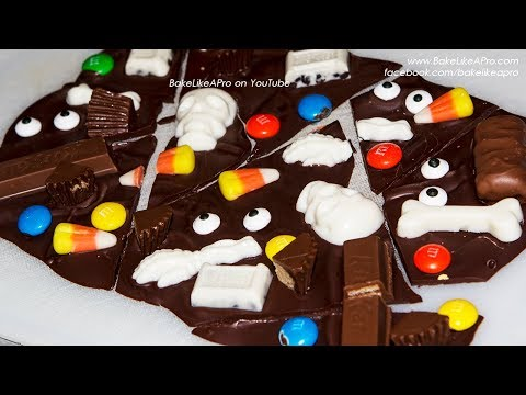 DO THIS With Your Leftover Halloween Candy - Chocolate Bark Recipe