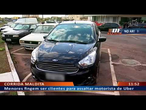 DF ALERTA - Pebas fingem ser passageiros para roubar carro de Uber