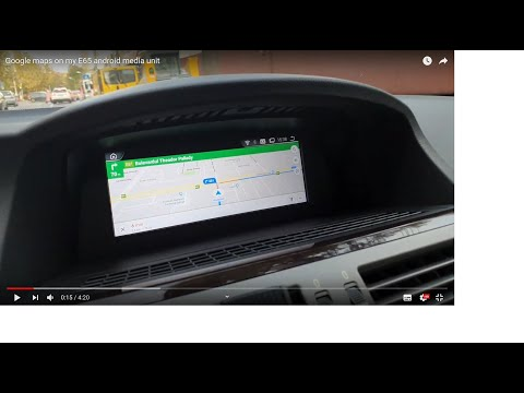 Google maps on my E65 android media unit
