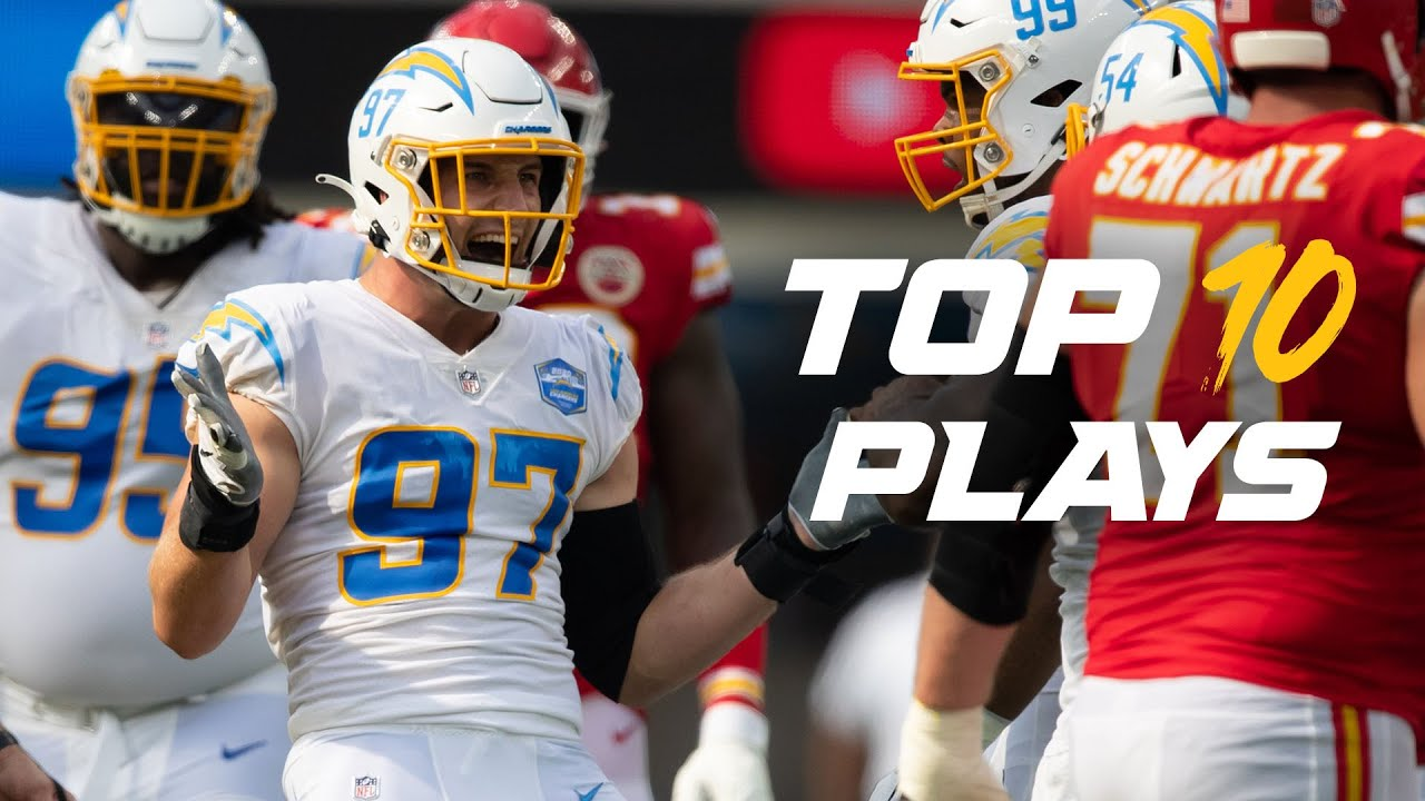 Chargers Top 10 Defensive Plays from 2020 (Bosa First Sack of Mahomes, Davis Pick 6 vs. Brady)