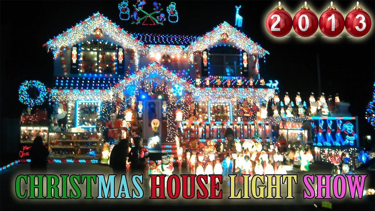 Christmas Houses Decorated Awesome Christmas House Light Show 2013 Best Christmas Outdoor . Design Inspiration