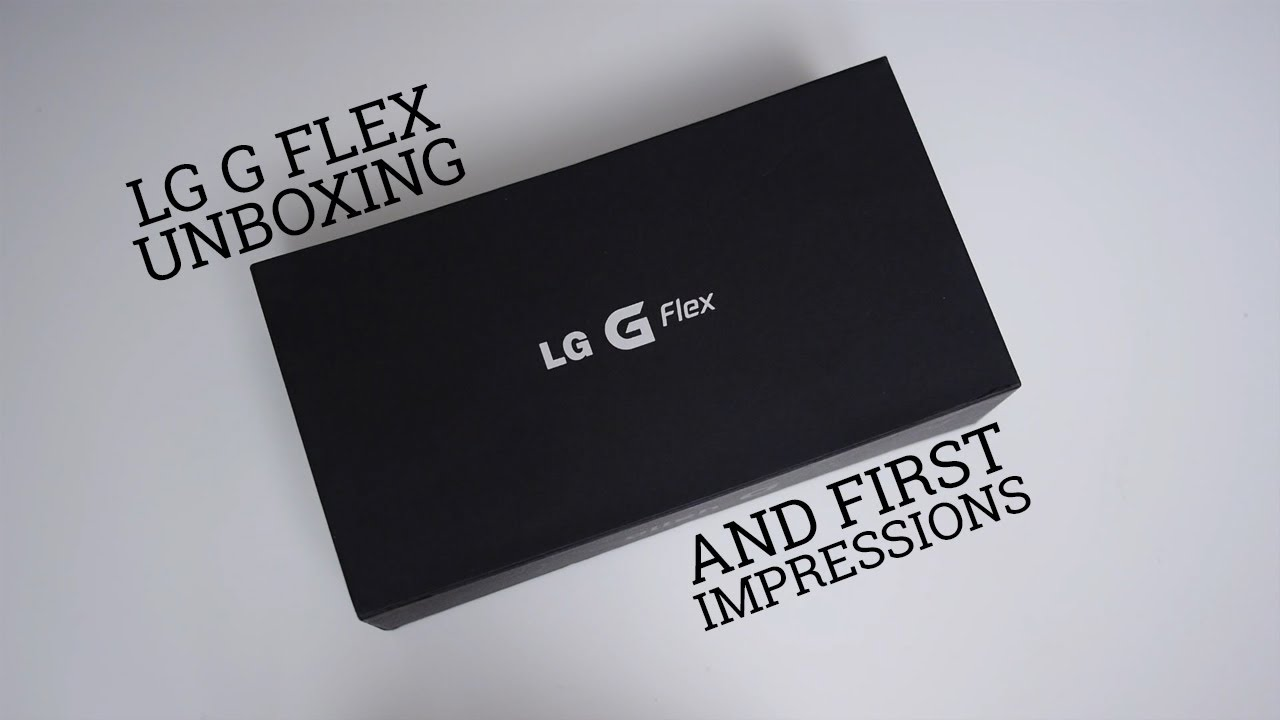 LG G Flex Unboxing and First Impressions