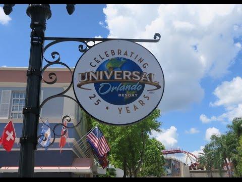 Celebrating Universal Studios Orlando's 25th Anniversary & Eating At NBA City