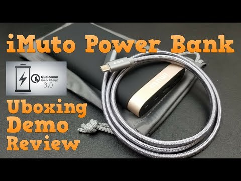 iMuto Power Bank with Qualcomm Quick Charge 3.0 | Unboxing | Demo | Review