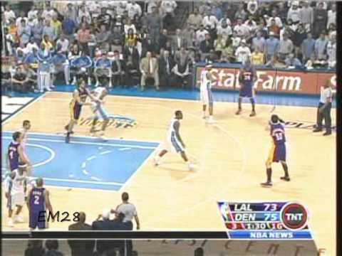 Los Angeles Lakers vs Denver Nuggets 2008 Playoffs 1st Round Game 4- Kobe Bryant 31 Points
