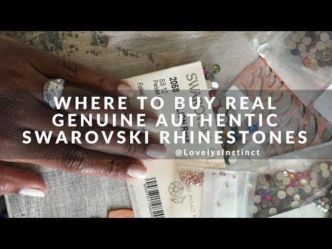 Where to Buy & Spot Real Genuine Authentic Swarovski Rhinestones