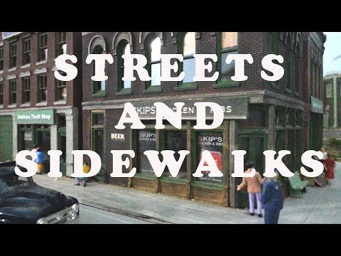 Model Railroad Streets and Sidewalks