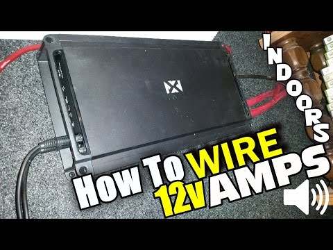 How to hook up a guitar amp to a car battery