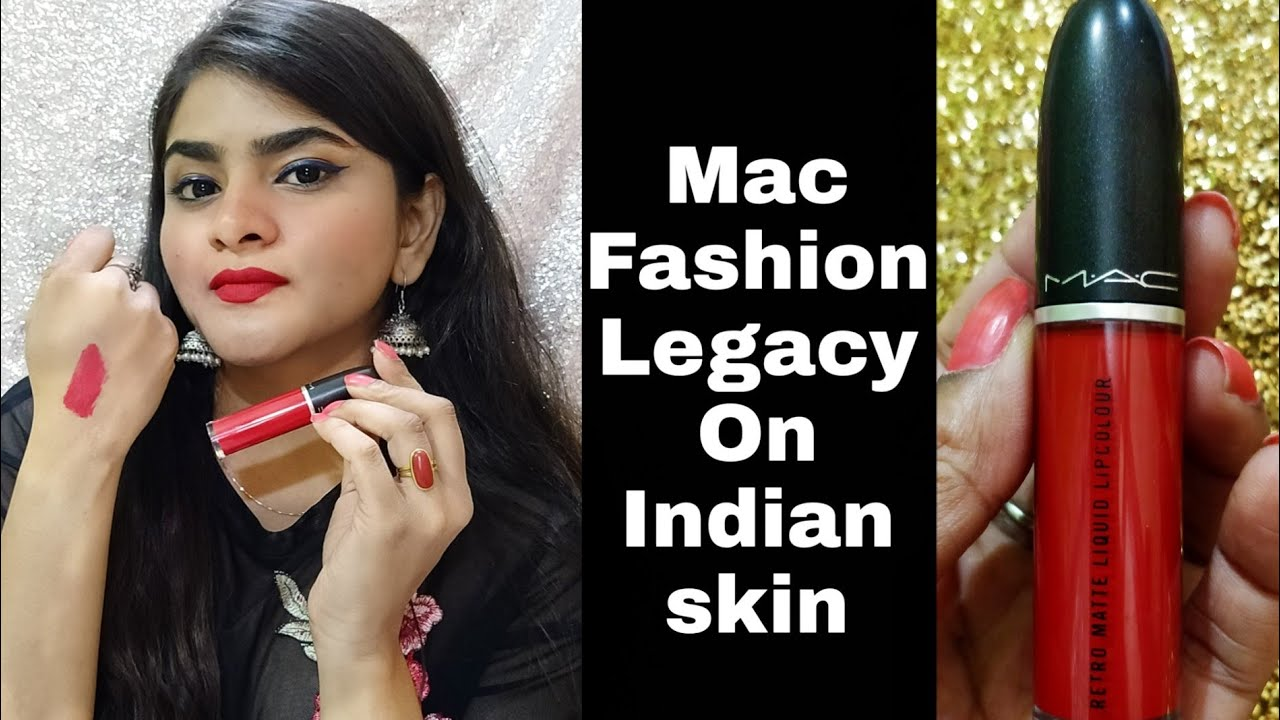 Mac Fashion Legacy On Indian Skin Review Ria Das Youtube