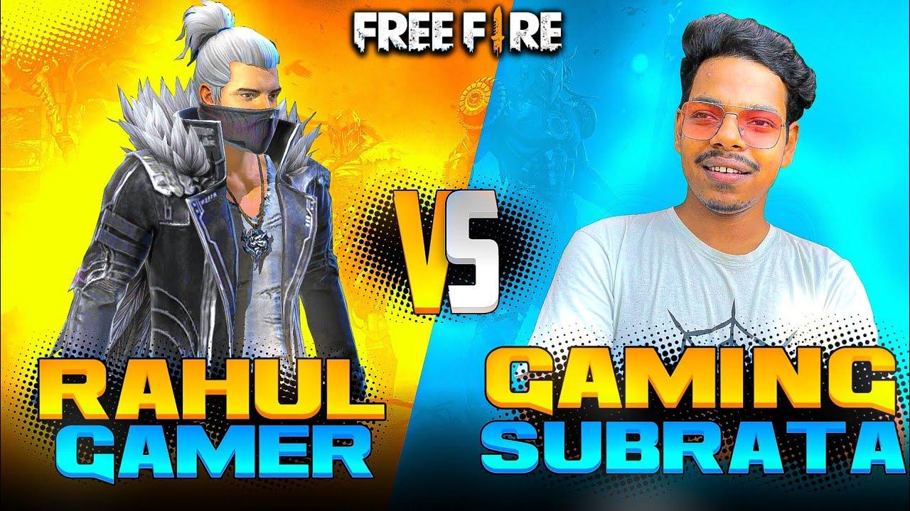 SUBRATA VS RAHUL GAMER COSTUM ROOM - WHO WILL WIN ?? GARENA FREEFIRE