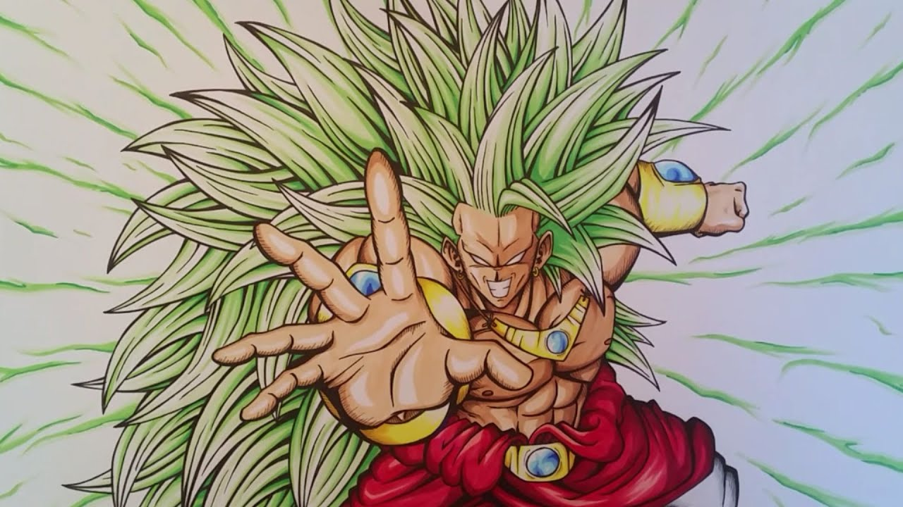 Drawing Broly Legendary Super Saiyan 3