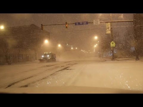 Snow slams downtown Cleveland