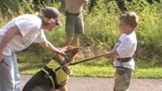 Service Dog Tethering Training