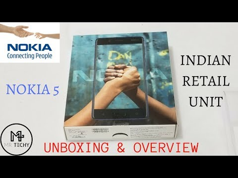 Nokia 5 - Indian Retail Unit - Unboxing & Overview in Hindi