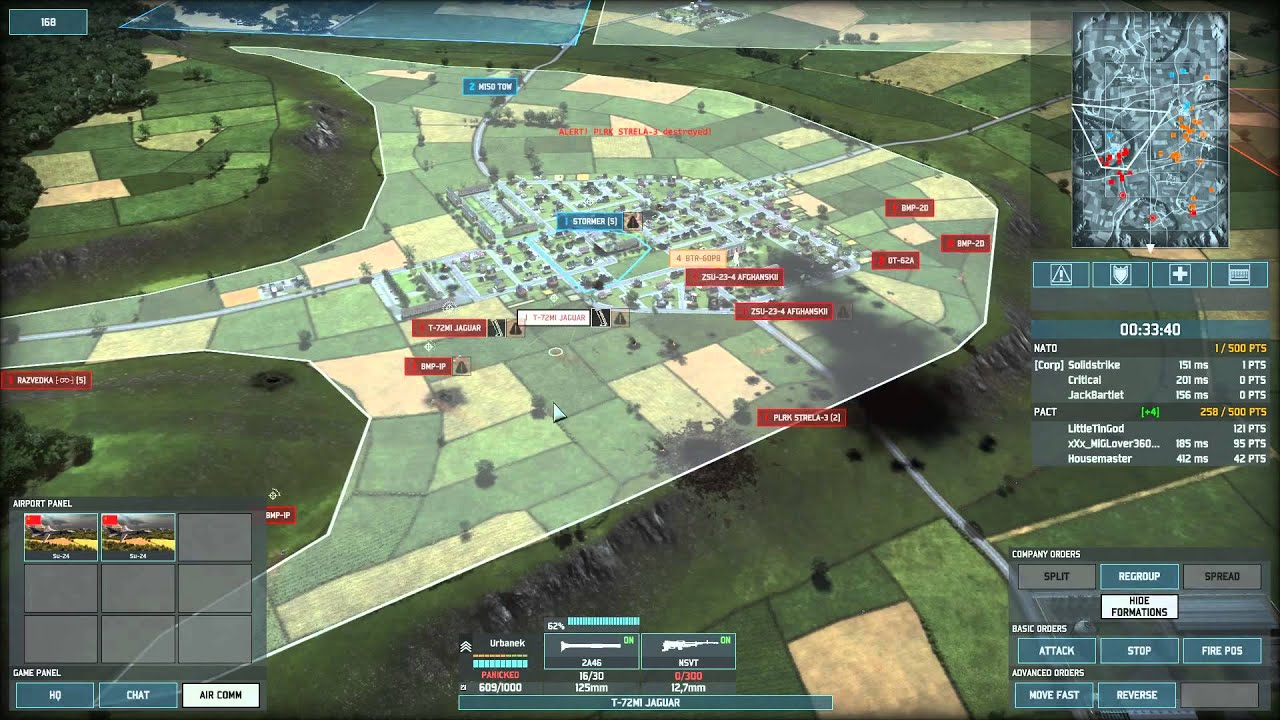 Wargame AirLand Battle 3v3 Conquest on Lillehammer using Mixed PACT Deck