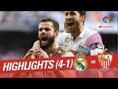 Resumen de Real Madrid vs Sevilla FC (4-1)