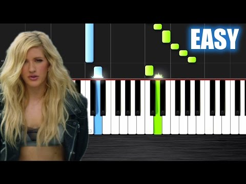 Calvin Harris - Outside Ft. Ellie Goulding - EASY Piano Tutorial By PlutaX - Synthesia