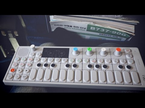 making a song on an OP-1 on an airplane