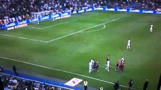 Messi Kicks Ball into Real Madrid Fan's Face; Pepe Aggression- Real Madrid vs. FC Barcelona 4/16/11