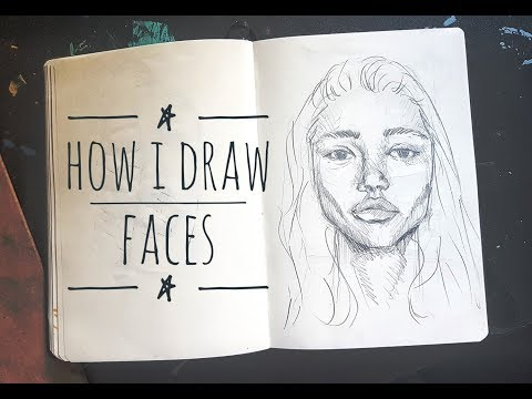 How I Draw Faces - Quick Sketch Tutorial thumbnail